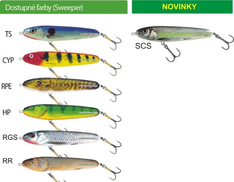 Salmo rybarske voblery Sweeper SE10S - Prenájom Sonarov